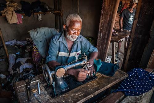 The Sewing Master by Joggie van Staden - People Portraits of Men ( work, male, working, people, professional, professional people, portrait )