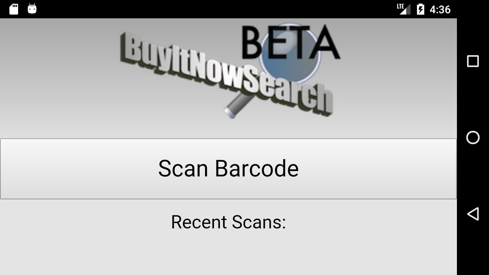 Buy It Now Search Barcode Scanner- screenshot