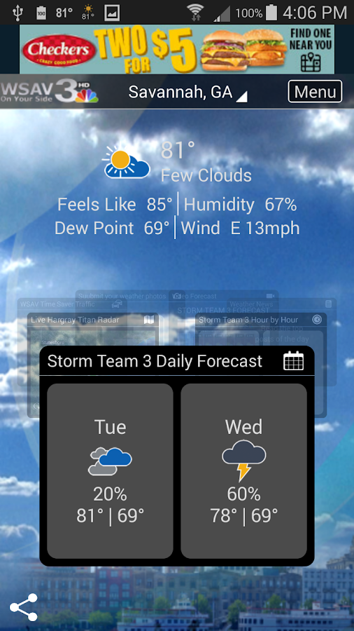 WSAV Weather- screenshot