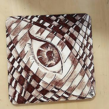 不同形狀既杯墊,歡迎訂做。可自選任何圖案。 =======================================😄歡迎訂購任何藝術產品  #art #zentangle #doodle #drawing #