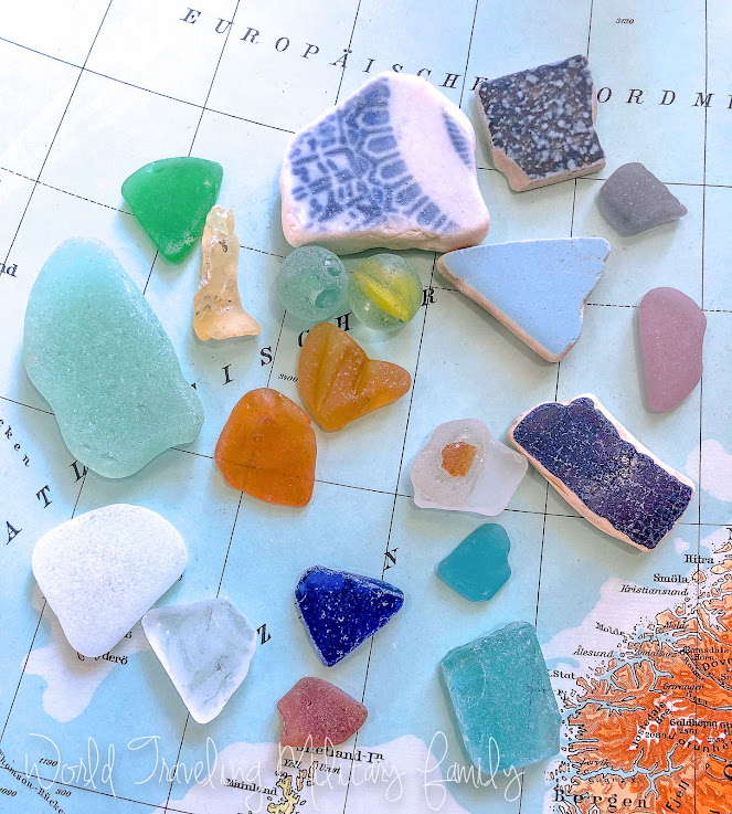 Sea glass marbles Guam