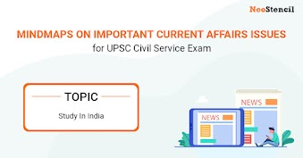 UPSC Current Affairs Issues - Mindmap: Study in India