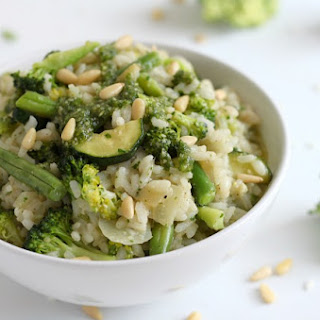 Risotto Primavera With Parsley Pesto