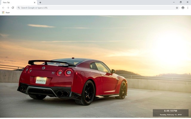 Nissan GTR New Tab & Wallpapers Collection