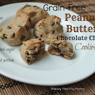Grain-free Peanut Butter Chocolate Chip Cookies.