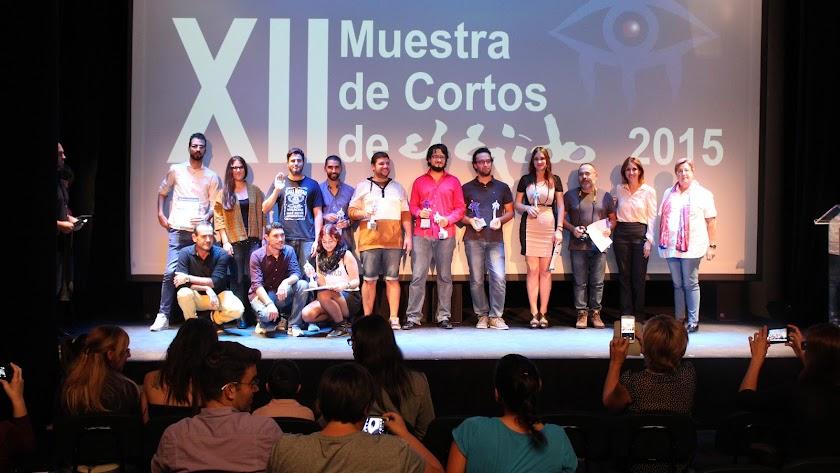 En la imagen, los premiados en la edición de la muestra de cortometrajes del año pasado.