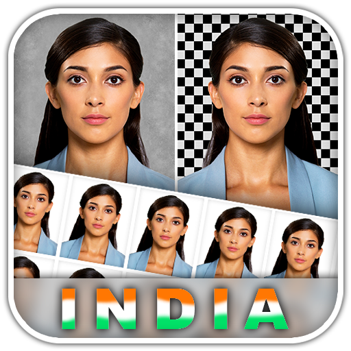 Indian Passport Size Photo Visa Pan OCI Aadhaar DL Icon