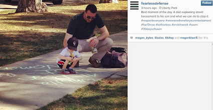 Photo: 4.13.15 a father explains street harassment to his son and why it needs to stop. Fearless Defense, Utah
