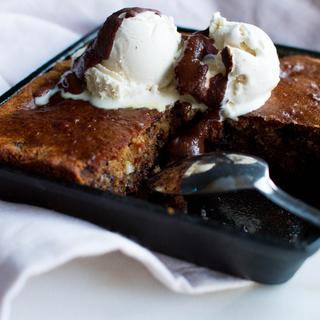 Single Serve Chocolate Chip Brookie {Blondie + Cookie}