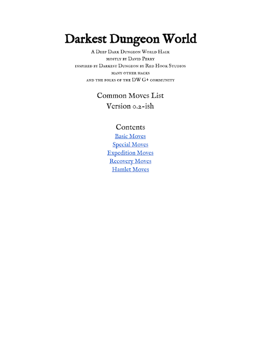 Darkest Dungeon World - Moves