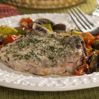 Roasted Pork Chops and Vegetables