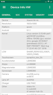 Device Info HW Screenshot