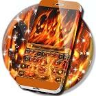 炎の頭蓋骨のキーボード icon