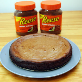 Reese Peanut Butter and Chocolate Greek Yoghurt Cheesecake