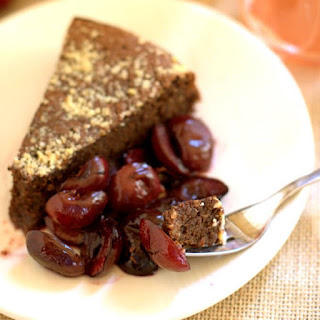 Flourless Almond Cake with Roasted Cherries.