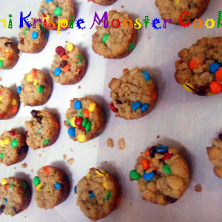 Mini Krispie Monster Cookies