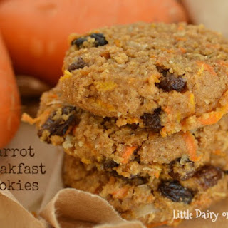 Carrot Breakfast Cookies (Healthy and Freezable)