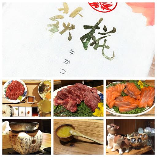 燒肉牛小排 200g ,有飽足感 鮭魚-炙燒/生吃 ,都好吃  白飯不好吃⋯
