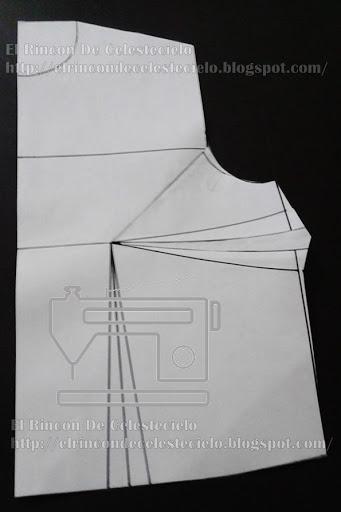 Patrón delantero con pinza de costado ampliada