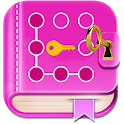 Secret diary with lock - Diary with password icon