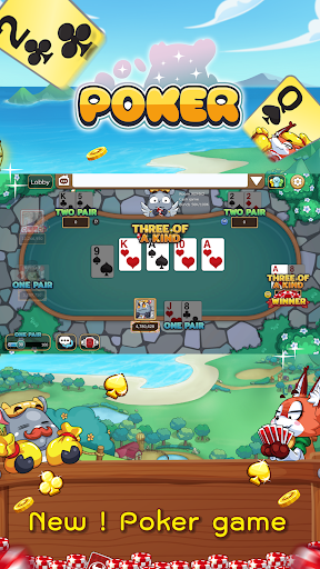 Poker Toon Free Texas cute Card Online Games apklade screenshots 1