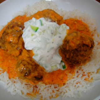 Curried Meatballs with Tomatoes.
