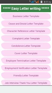 Easy letter writing apps on google play screenshot image altavistaventures Images
