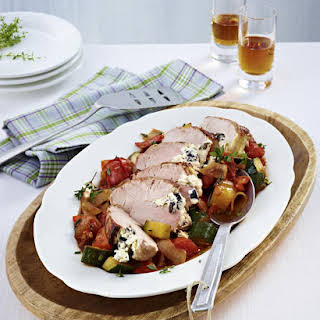 Greek-Style Pork Tenderloin and Vegetables.