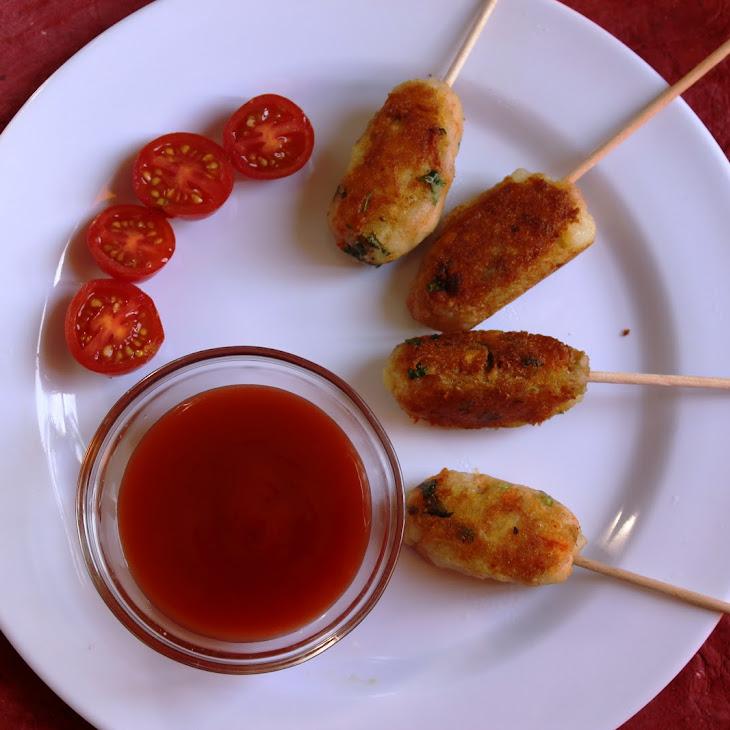 Gluten free ,less oil Potato Lollipop