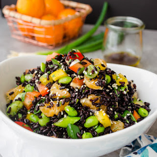 Asian Black Rice Salad with Ginger Orange Dressing.