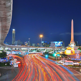 by Chatchai Lakamankong - City,  Street & Park  Street Scenes ( pwcflags )