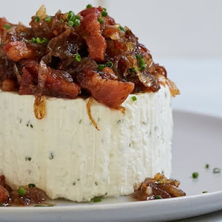Boursin Cheese with Caramelized Onions and Bacon.