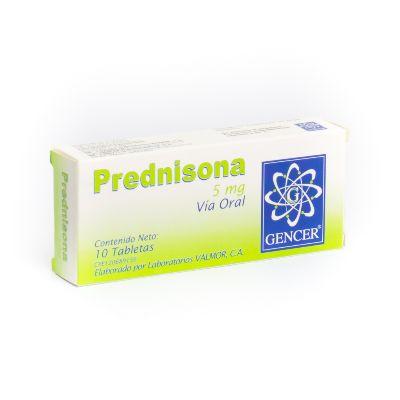 Prednisona Gencer 5 mg x 10 Tabletas