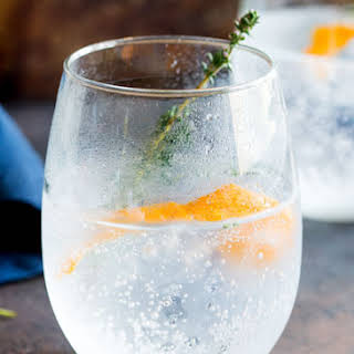 Orange and Thyme Gin and Tonic.