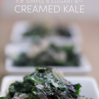 Lightened Up Creamed Kale | Gluten Free & Low Carb Recipe