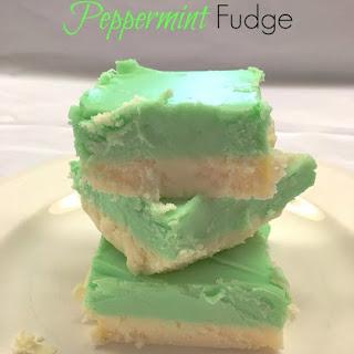 White Chocolate Peppermint Fudge Recipe