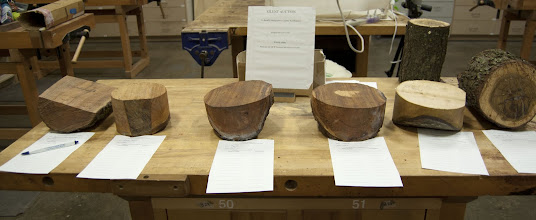 Photo: Some very nicely-prepared bowl blanks in the Silent Auction from Phil Brown.  It takes a lot of hard work and time and energy and expense to put these on the table.