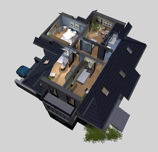 APS 006 - Rzut poddasza 3D