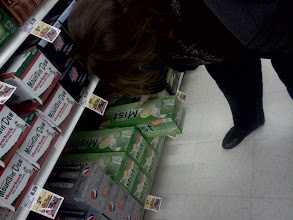 Photo: My mom was helping me by grabbing a Sierra Mist which is her favorite. I didn't have a shopping list written out it was all in my head this time.
