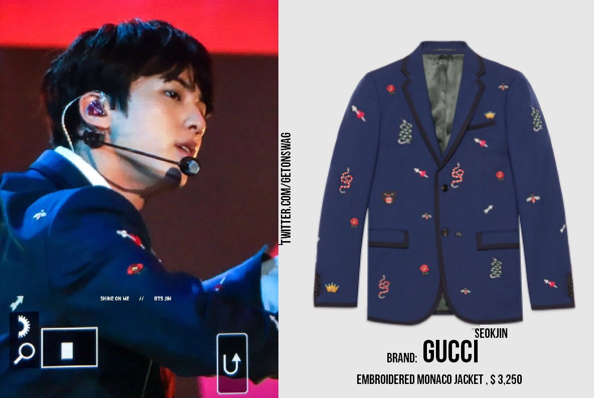Here S All The Gucci Bts Wore At Their Ama Performance