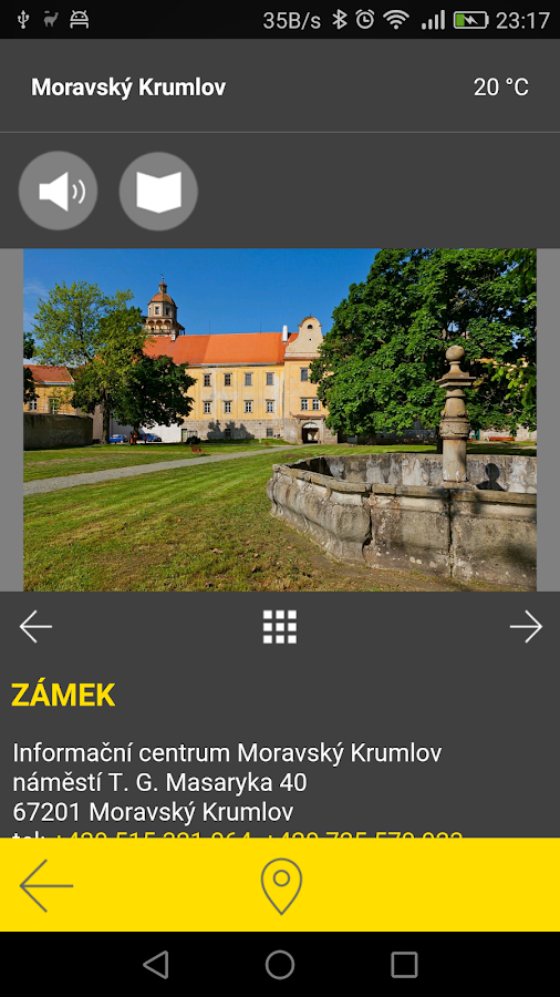 Moravský Krumlov - audio tour- screenshot