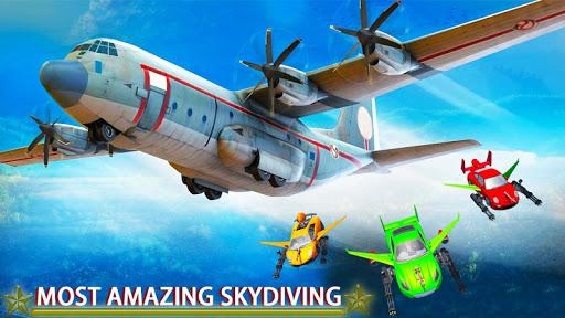 Skydiving Flying Car Stunt : Air Combat Fight Race 1.0 screenshots 1