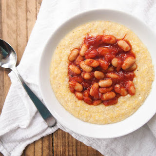 Vegan Cheese Grits and Barbecue Beans