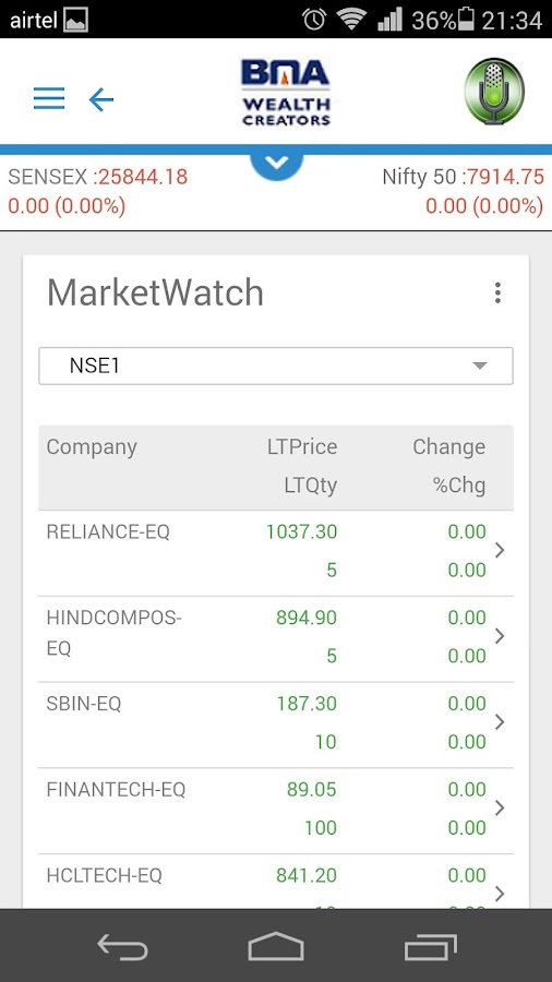 BMA mTrade- screenshot