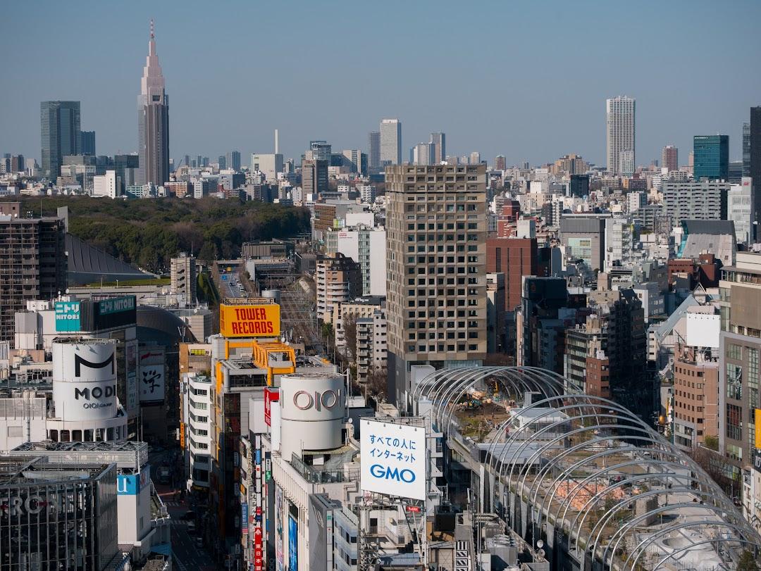 SHIBU NIWAからの眺め(新宮下公園、新宿方面)