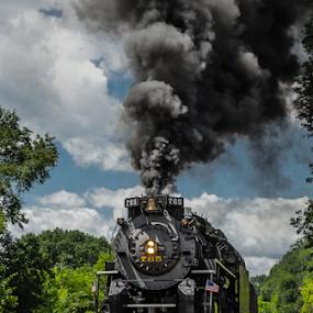 NKP 765  by Jim Davis - Transportation Trains ( steam engine, railroad, train, leisure, railroad train, tracks, transportation, travel, vacations, steam )