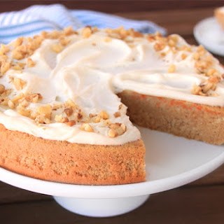 Low-Calorie Carrot Cake with Cream Cheese Frosting