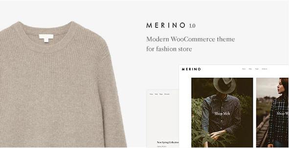 6. Merino | Modern WooCommerce shop theme for fashion store