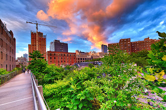 Photo: Sunset in NYC  Goodmorning, G+ers! Hope everyone has a wonderful day today :)   #highline  #sunset  #nyc  #hdr  #d800
