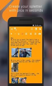 Spletter - send mail & photos screenshot 0